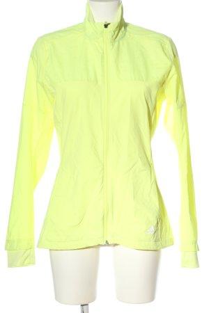 Adidas Chaqueta deportiva amarillo pálido look casual