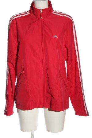 Adidas Chaqueta deportiva rojo-blanco look casual