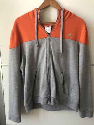 Adidas Veste de sport orange-gris clair