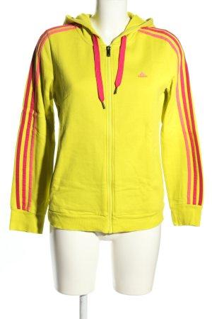 Adidas Sportjacke blassgelb-pink Casual-Look