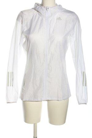 Adidas Chaqueta deportiva blanco letras impresas estilo deportivo