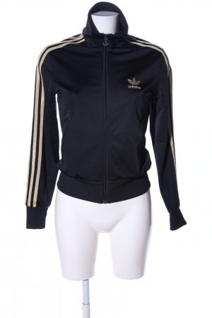 Adidas Sports Jacket black-gold-colored casual look