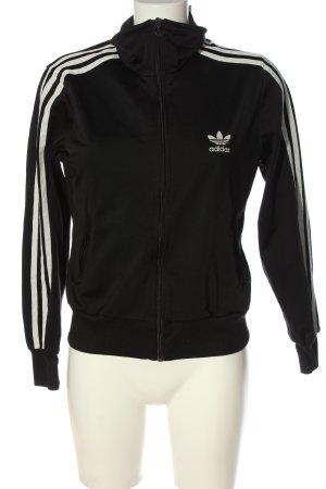 Adidas Sportjacke schwarz-wollweiß sportlicher Stil