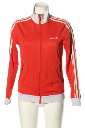 Adidas Sportjacke rot-weiß schlichter Stil