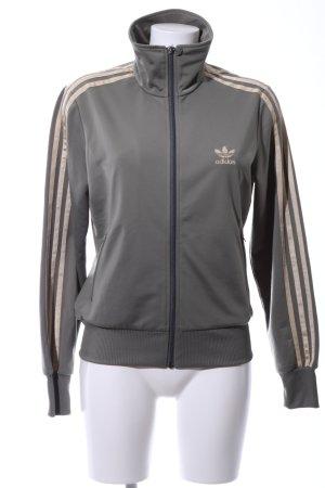 Adidas Sportjacke hellgrau-goldfarben Casual-Look