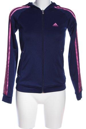 Adidas Chaqueta deportiva azul-rosa estampado a rayas look casual