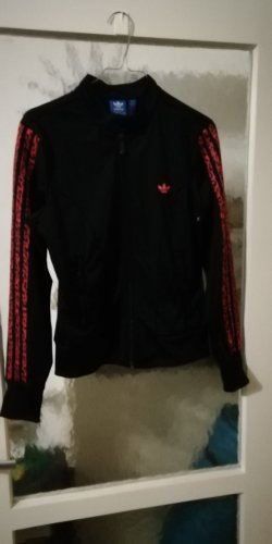 Adidas Chaqueta deportiva negro-rosa