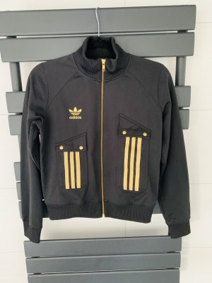 Adidas Originals Sports Jacket black-gold-colored