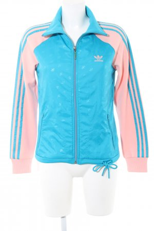 Adidas Sports Jacket turquoise-pink allover print elegant