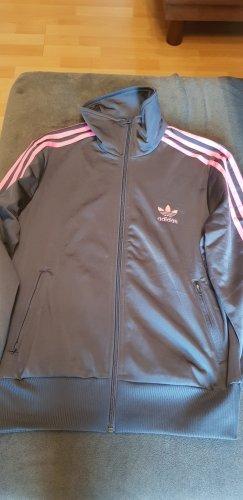 Adidas Originals Sports Jacket anthracite-neon pink