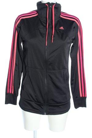 Adidas Sports Jacket black-pink striped pattern athletic style