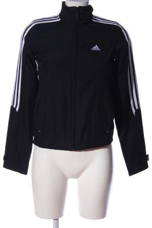 Adidas Chaqueta deportiva negro-blanco estampado a rayas look casual