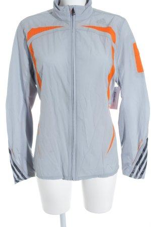 Adidas Sportjacke dunkelorange-hellgrau sportlicher Stil