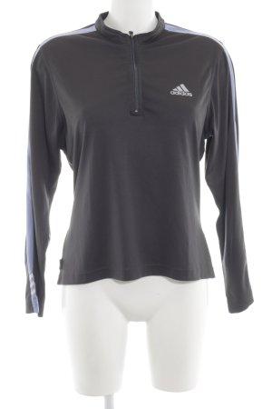 Adidas Sportjacke schwarz-silberfarben sportlicher Stil