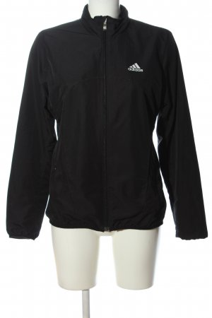 Adidas Chaqueta deportiva negro-blanco look casual