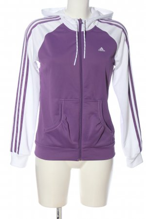 Adidas Sports Jacket lilac-white athletic style