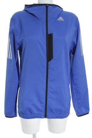 Adidas Sportjacke silberfarben-stahlblau sportlicher Stil