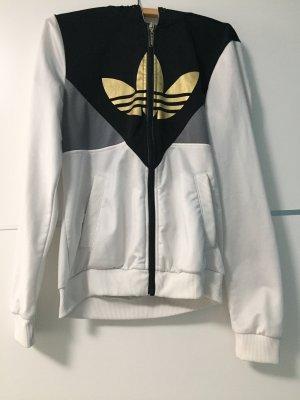Adidas Sportjacke weiß grau schwarz gold