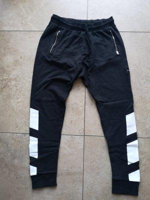 Adidas Sportbroek wit-zwart