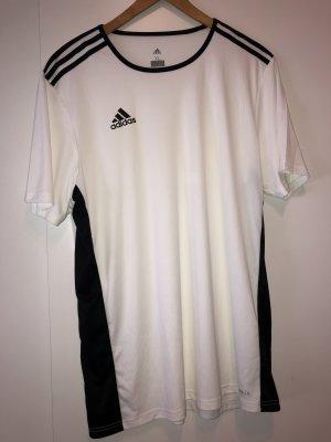 Adidas T-shirt de sport blanc-noir