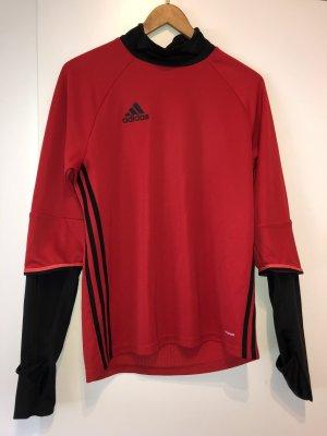 Adidas T-shirt de sport noir-rouge