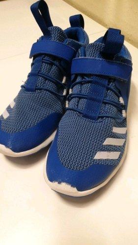 Adidas Trampki na rzepy biały-niebieski