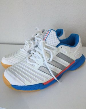 Adidas Sznurowane trampki biały-niebieski