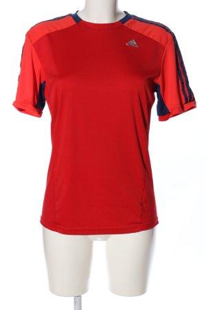 Adidas Koszulka sportowa czerwony Wydrukowane logo W stylu casual