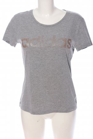 Adidas Sports Shirt light grey-brown flecked casual look