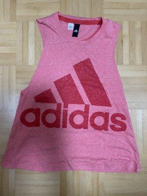 Adidas Koszulka sportowa malina-jasnoczerwony