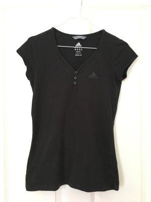 Adidas Koszulka sportowa czarny Bawełna