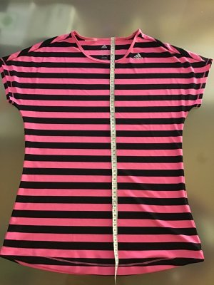 Adidas T-shirt de sport noir-rose fluo