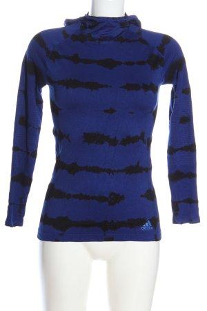 Adidas Sportshirt blau-schwarz Allover-Druck Casual-Look