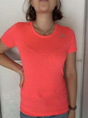 Adidas Maglietta sport rosso-arancio neon