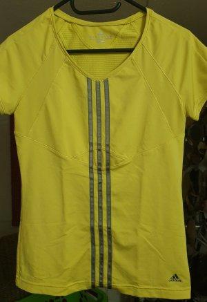 Adidas T-shirt de sport jaune fluo