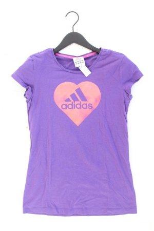 Adidas Sportshirt Größe 40 Kurzarm lila aus Baumwolle