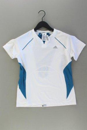 Adidas Sportshirt Größe 40 Kurzarm weiß aus Polyester