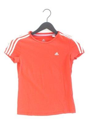 Adidas Sportshirt Größe XS gestreift Kurzarm rot aus Baumwolle