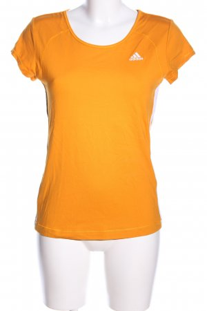 Adidas Sports Shirt light orange striped pattern athletic style