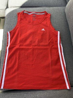 Adidas Maglietta sport bianco-rosso neon