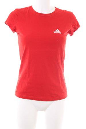 Adidas Sportshirt rood casual uitstraling