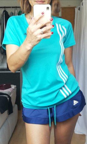 Adidas Sportshirt XS/S tshirts fitnessshirt Laufshirt 34/36 mintgrün türkis Trainingsshirt