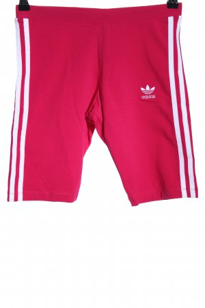 Adidas Sportshorts rot-weiß Motivdruck Casual-Look