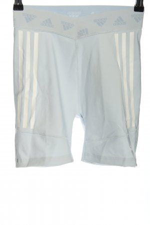 Adidas Szorty sportowe niebieski-w kolorze białej wełny Wzór w paski