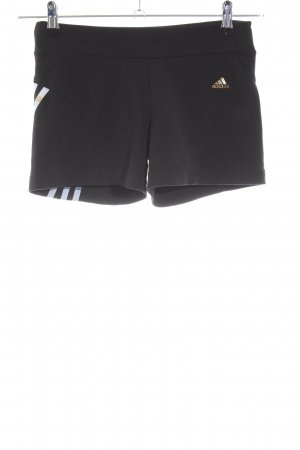 Adidas Sportshorts schwarz Motivdruck Casual-Look