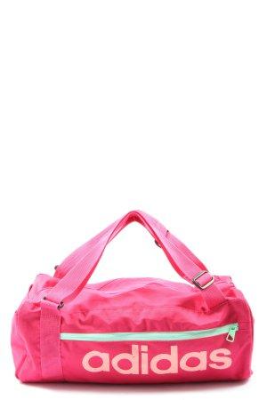 Adidas Sporttasche pink-creme Schriftzug gedruckt schlichter Stil