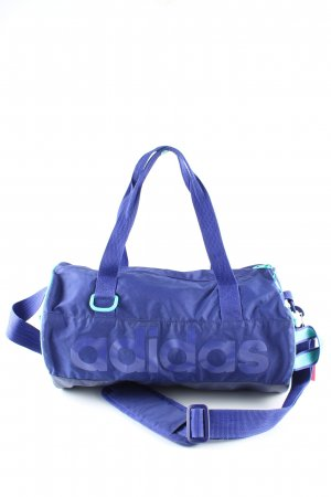 Adidas Sporttasche blau-türkis Schriftzug gedruckt sportlicher Stil