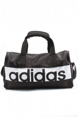 Adidas Sports Bag black-white themed print casual look