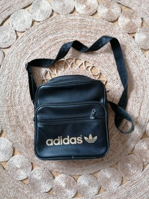 Adidas Sports Bag black-gold-colored