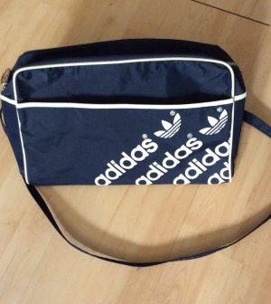 Adidas Sporttas wit-donkerblauw